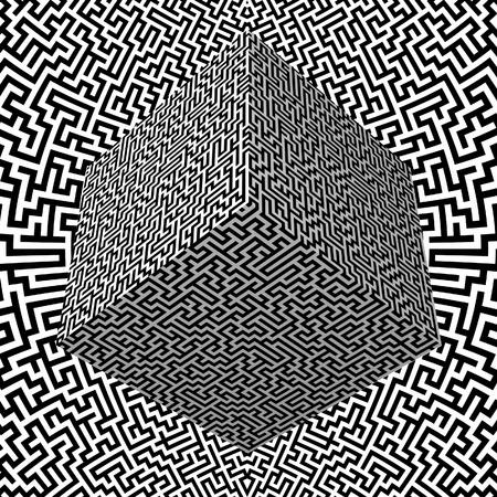 Maze Block and Maze Background Stock Photo - 8836819