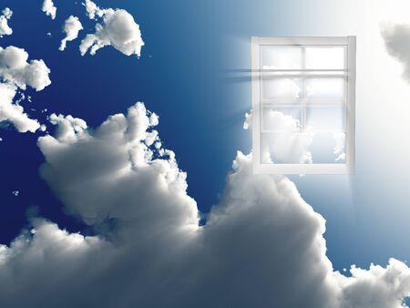 Window in sky photo