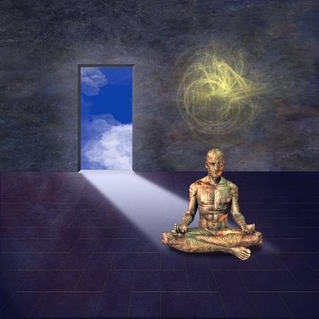 man meditating: Meditation room