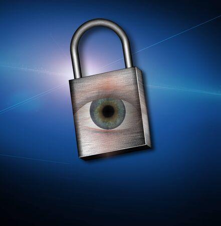 Eye and Lock Stock Photo - 8837759