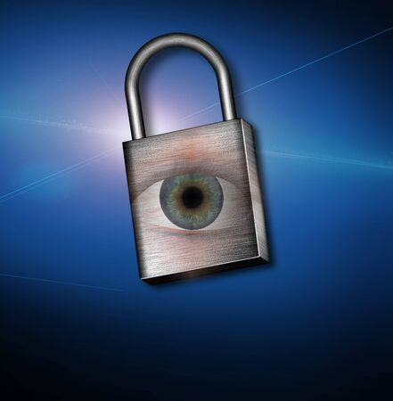 Eye and Lock Stock Photo - 8837759