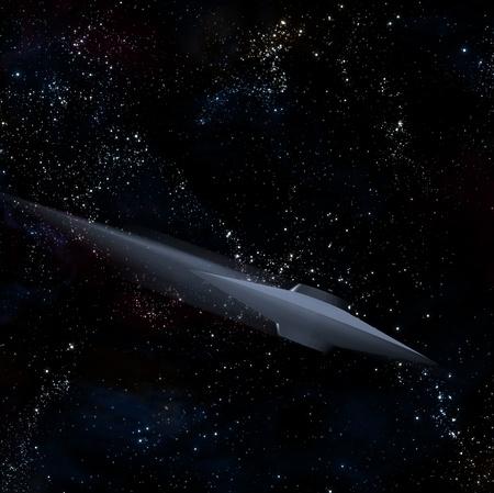 Speeding alien craft photo