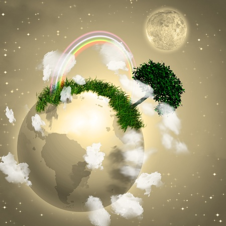 Earth with Tree Stock Photo - 8837743