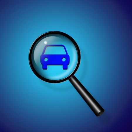 find: Car Search Stock Photo