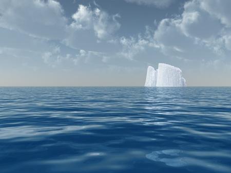 High Resolution Iceberg in open sea photo