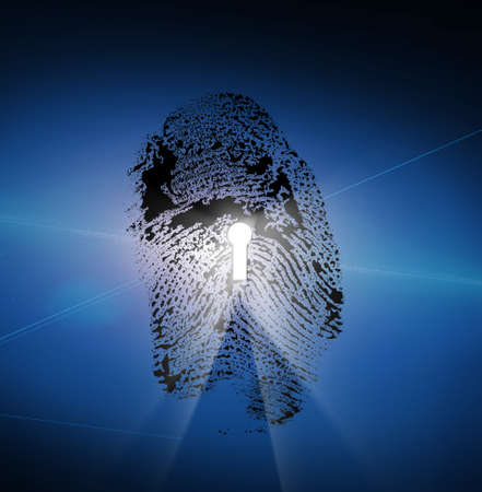 Finger Print with Keyhole photo