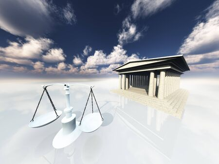 Scales and classical building Stock Photo - 9106373