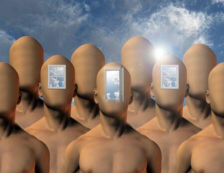 psique: Aperturas a la mente Foto de archivo