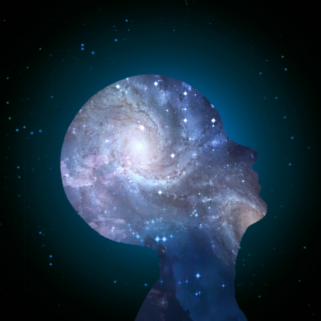minds: Galaxy Mind Stock Photo