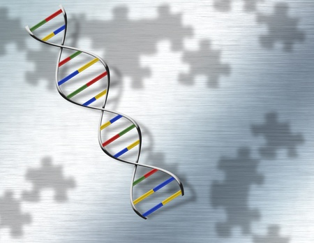Puzzle DNA on Steel Stock Photo - 9190048
