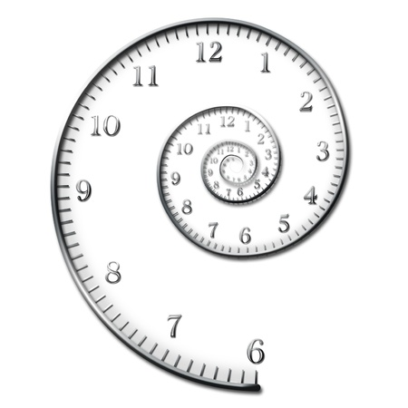 time zone: Time Spiral Stock Photo