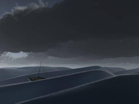Ship at sea photo