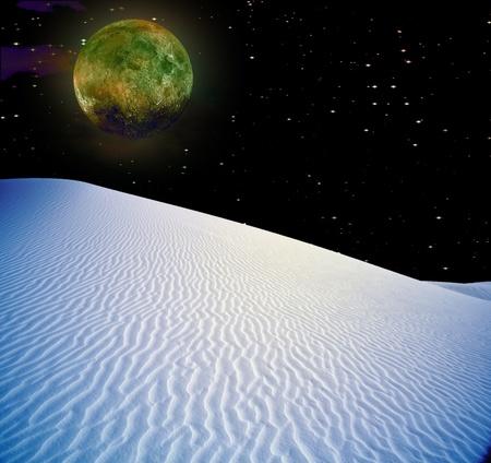 Night Desert Stock Photo - 9222936