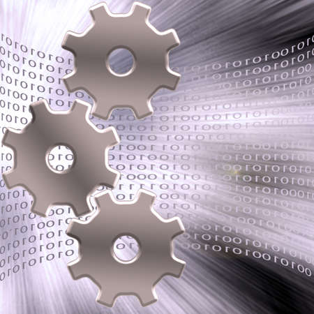 programming code: Binary Gears Stock Photo
