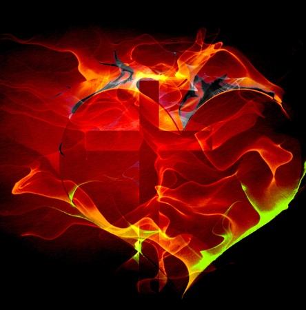 holy  symbol: Cruz corazón
