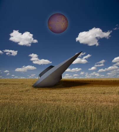 crashed: Crashed UFO