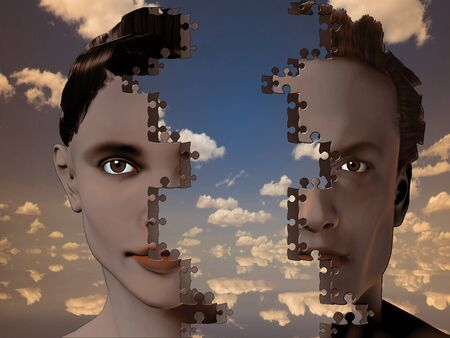 Puzzle Man and Woman photo