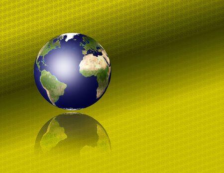 AT Symbol Earth Stock Photo - 9512567