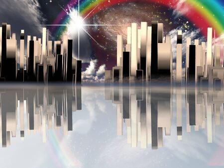 Heavenly City 스톡 콘텐츠