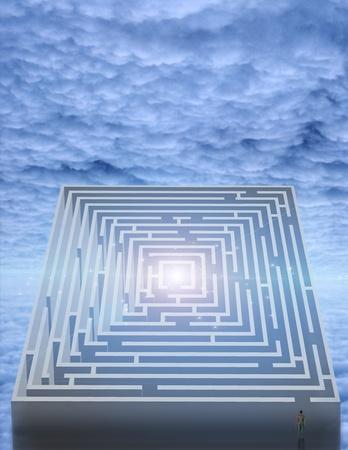 Maze in clouds 版權商用圖片