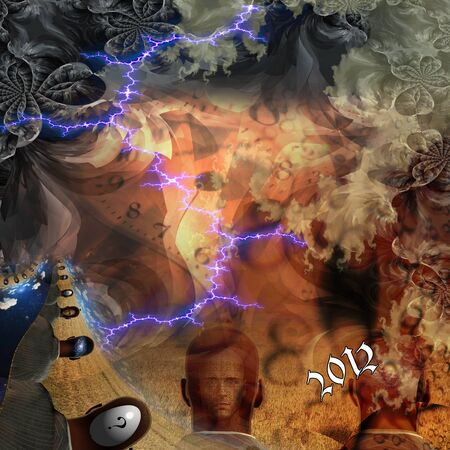 Mayan prediction of the year 2012 illustration Stock Illustration - 9582756
