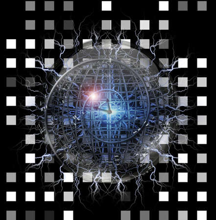 enclosed: Spiral of time enclosed in crystal sphere