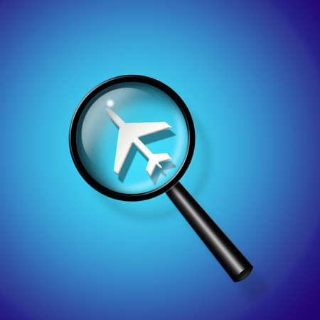 air: Air travel search Stock Photo