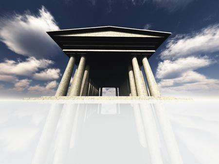 Tempel op wit Stockfoto - 9582647
