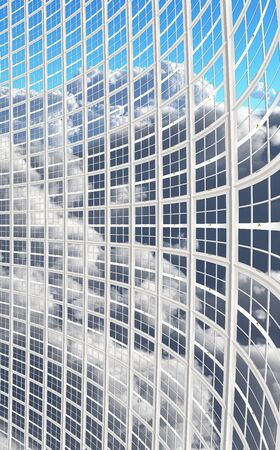 Large windows recede photo