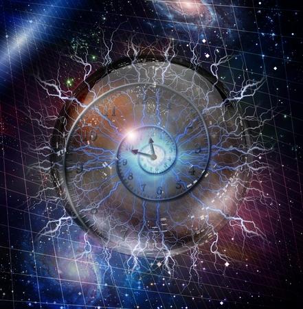 zone: Spiraal van de tijd opgesloten in kristallen bol