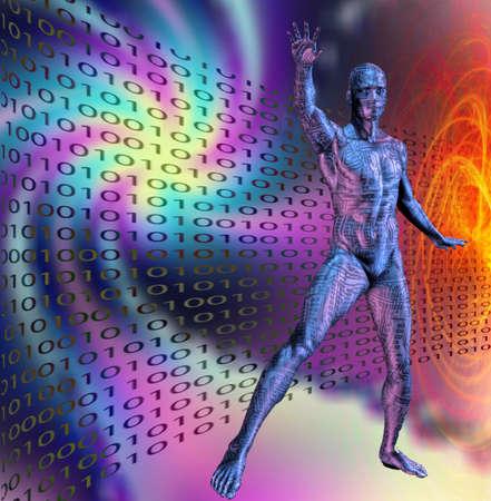 machine man binary Stock Photo - 9654771