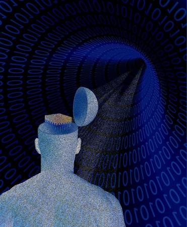 machine mind Stock Photo