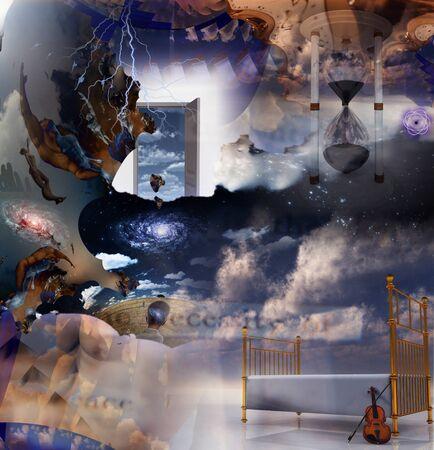 estrella de la vida: Composici�n del sue�o de fantas�a Foto de archivo