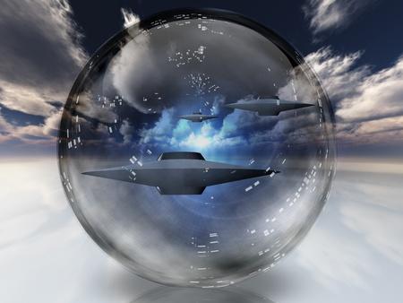 UFO's in duidelijke sfeer