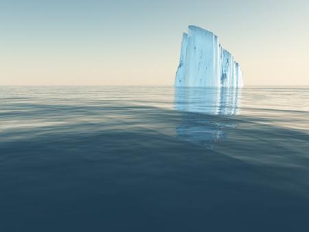 High Resolution Iceberg in open sea 版權商用圖片