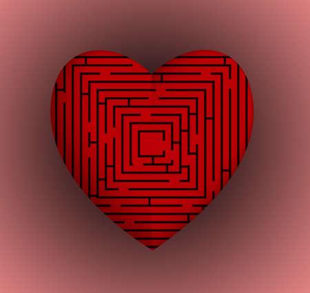 Heart Maze Фото со стока