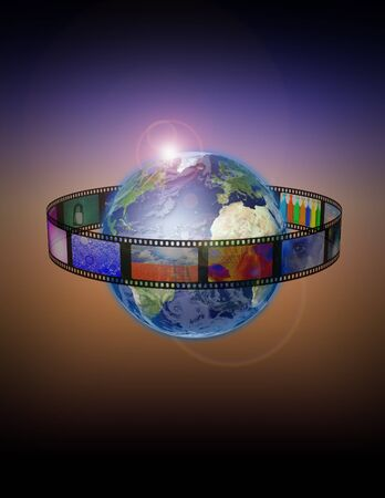 Roll film: Pel�cula rodeado de tierra