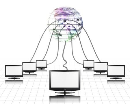 worldwide web: Pantalla plana de World Wide Web conectado