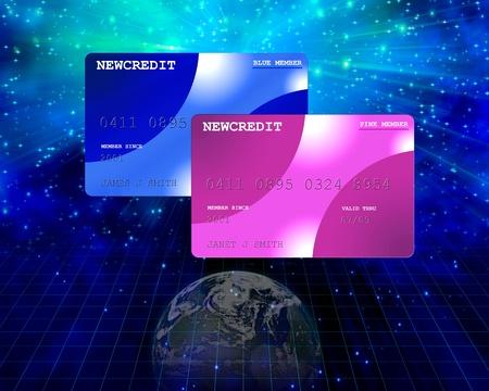 クレジットの惑星 写真素材