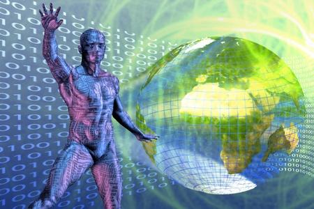 Zukunftstechnologie Standard-Bild - 9772328