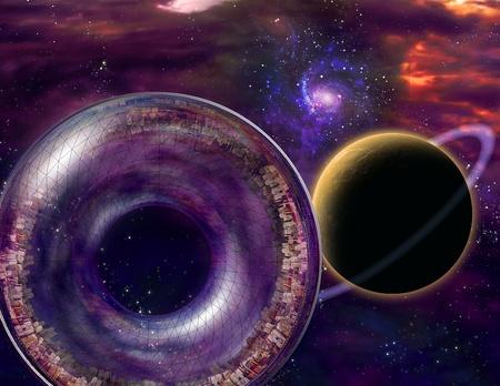 Multigenerationele Interstellar Stad Schip