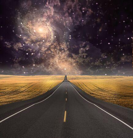 Pad verdwijnt in achtergrond