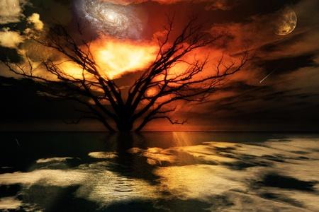 dreamy: Magical Landscape Stock Photo