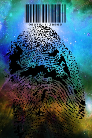 Fingerprint Barcode Stock Photo - 10056455