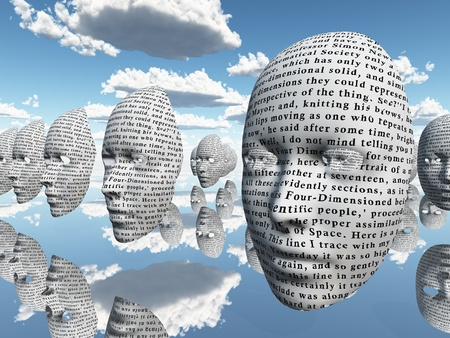 surreal face with text Stock Photo - 10056382