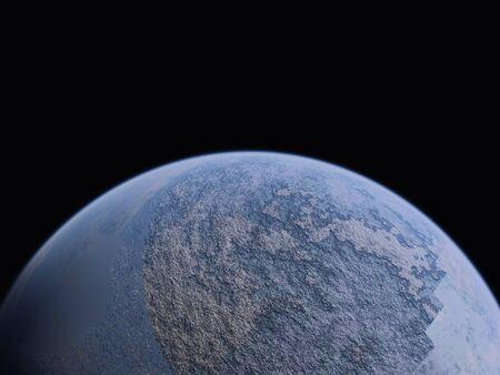 trek: Planet and small moon Stock Photo