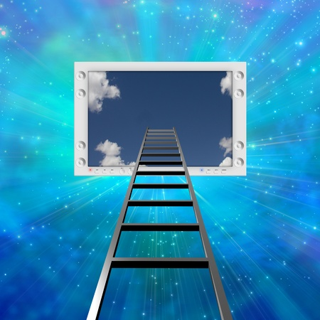 Ladder lead into Flat Panel photo