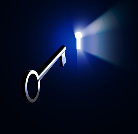 열쇠 구멍 공간 스톡 콘텐츠
