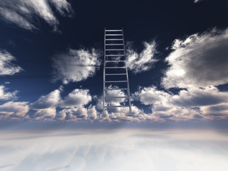 Ladder into sky photo
