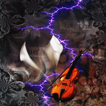 fiddles: Violin Abstract